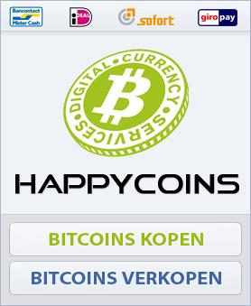 HappyCoins - Bitcoins kopen - Bitcoins verkopen